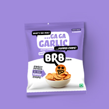 Roasted Garlic Herbs Sweet Potato Popped Chips BRB Not Baked Not Fried