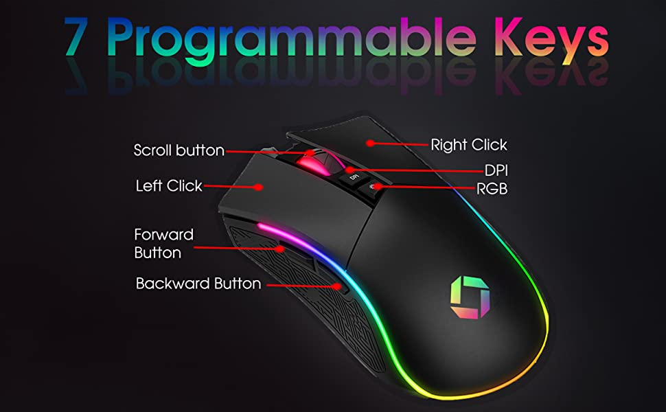 7 PROGRAMMABLE KEYS GAMING MOUSE