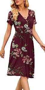 flower swing dress