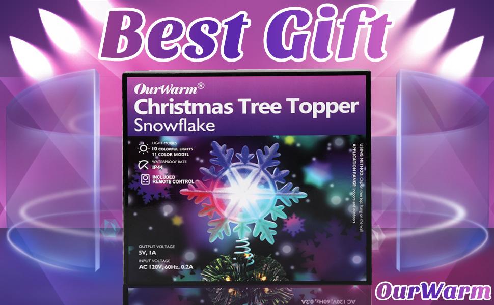 xmas lighted tree topper