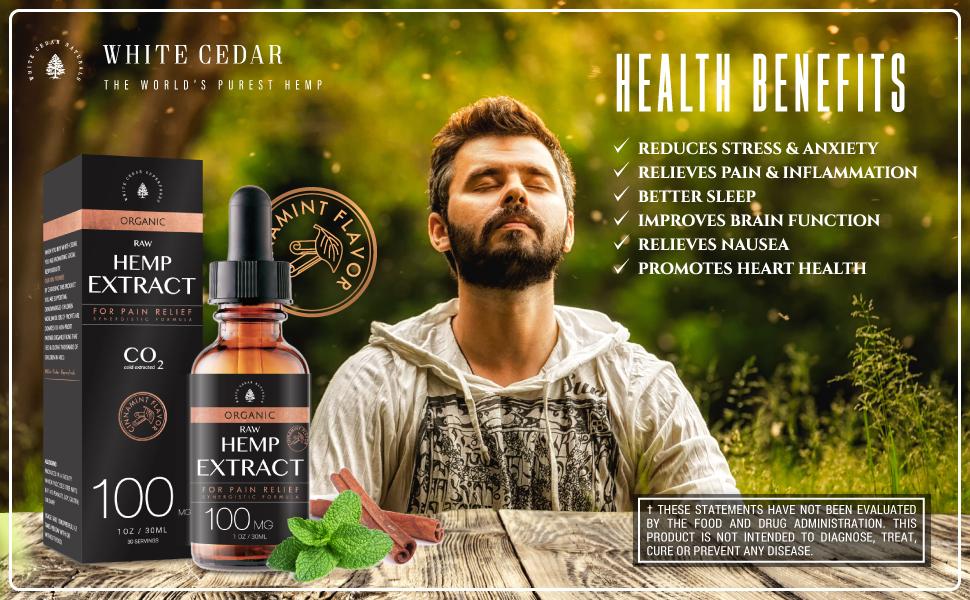 HEMP OIL PAIN STRESS ANXIETY EXTRACT VITAMIN E OMEGA 3 6 9 FATTY ACIDS