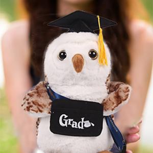 Caramella Oso De Graduación De Burbuja Con Tapa Negra Oso De Peluche Diseño De Búho De Peluche Blanco Toys Games