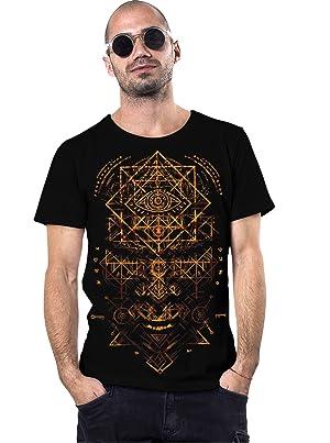 Street Habit Camiseta Negra Illuminati - Ropa Victoriana con símbolo Ojo-Que-Todo-lo ve algodón 100% para Hombre