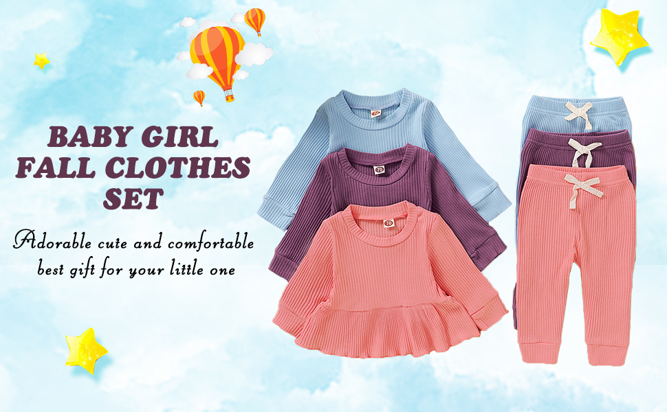 infant girl outfit set