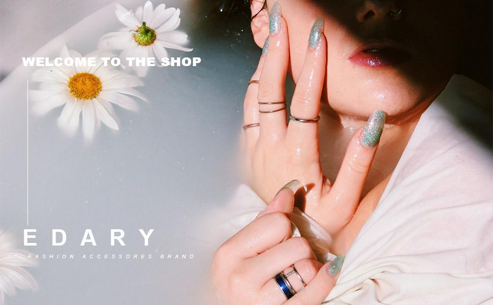 vintage rings set crystal rings set for women boho rings crystal joint knukle ring set