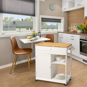 wooden kitchen island cart white for dining room