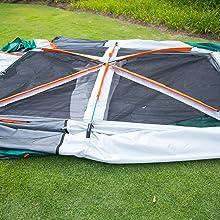 3 x Fiberglass Tent Poles (2 x black, 1 x green)