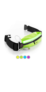 LED rechargeable night running belt