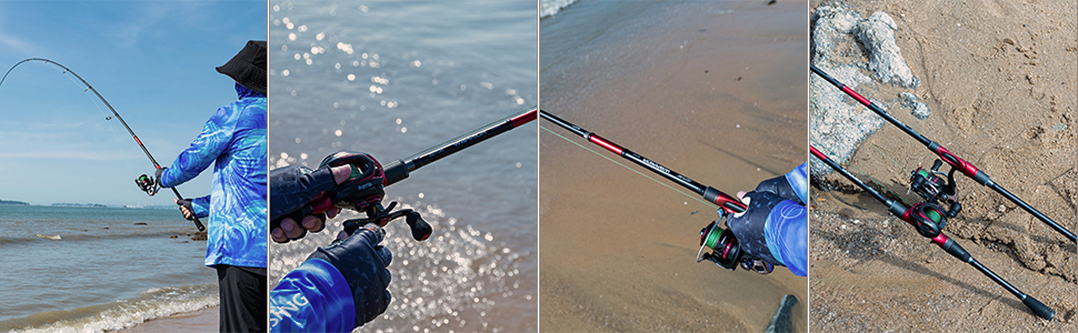 spin & cast fishing rod