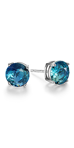 Tourmaline stud earring sterling silver
