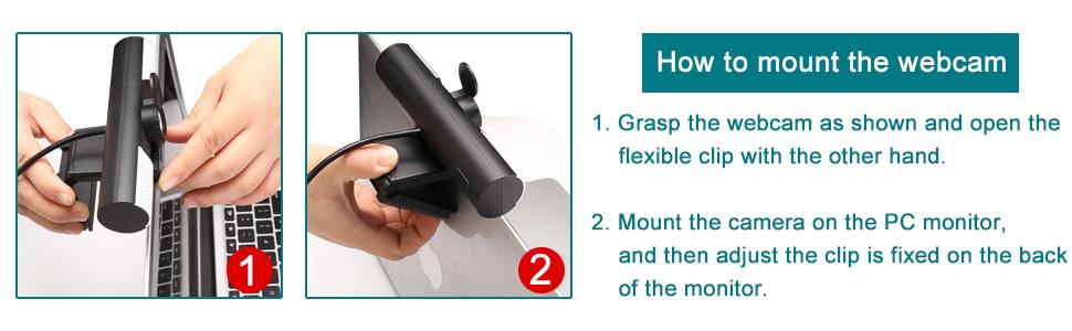 mount webcam