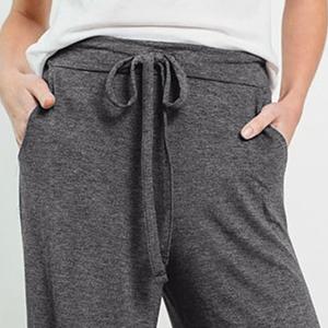 womens drawstring wide leg trouser yoga pants running pants