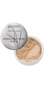Mineral Loose Powder, natural makeup, natural makeup with spf, organic makeup, natural loose powder