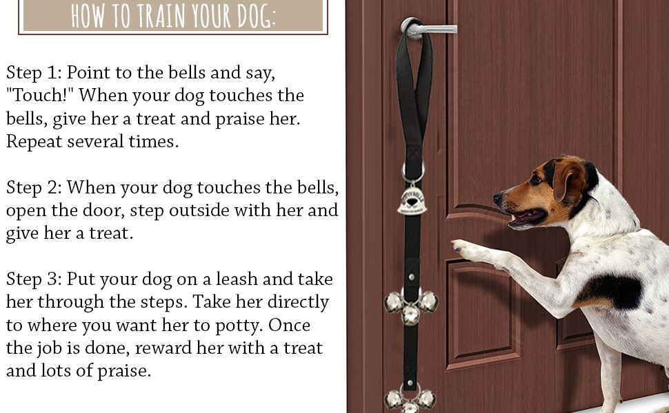 1.4 Inch Dog Bell with Doggie Doorbell and Potty Training for Puppies