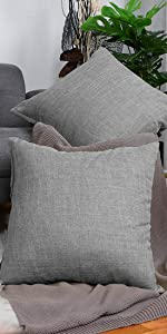Linen Throw Pillow Covers