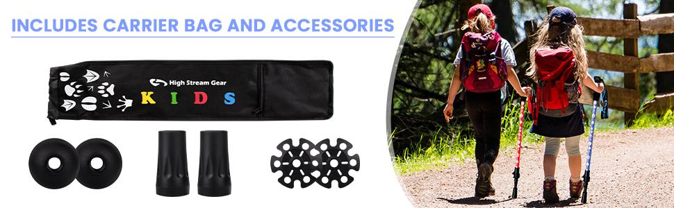 Accessories for kids' trekking poles