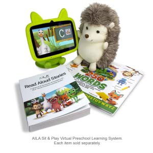 AILA Sit & Play Hedgehog Plush Stuffed Animal Learning Companion