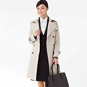 4 Piece Trench Coat with Calze Liner for Water Repellent, 3 Seasons