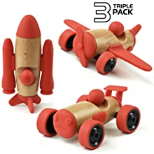 Swoods, toddler toys, wooden toys, car, plane, rocketship