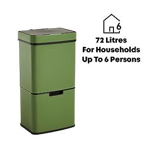 Cubo de basura de 70 litros.