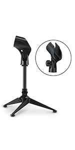 Moukey MMs-4 Universal Adjustable Tripod Desk Microphone Stand