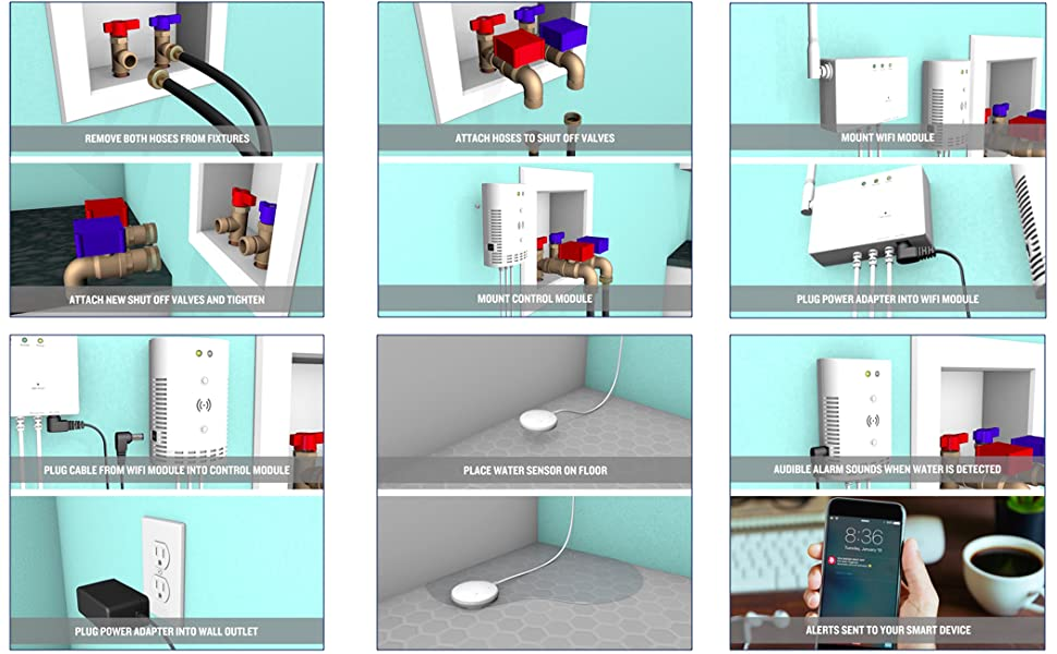 water leak detector flood prevention smart home ring camera flood stop RCA water damage home owner