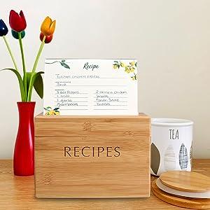 Bamboo Recipe Box
