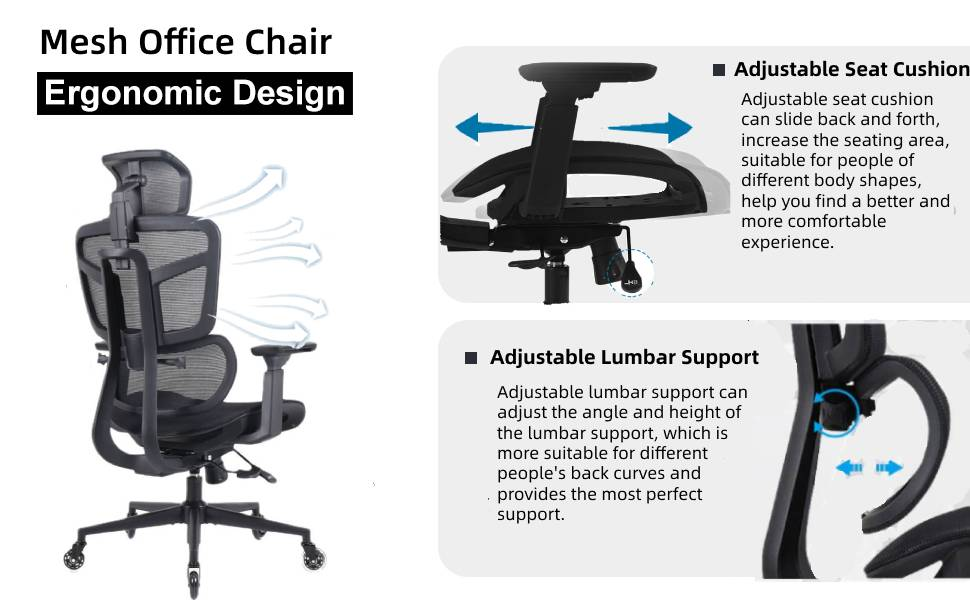 ergonomic mesh officechair