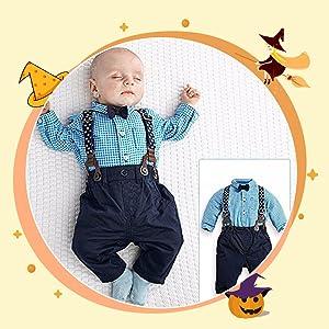 4pcs Toddler Boy Infant Gentleman Outfits Suit Set