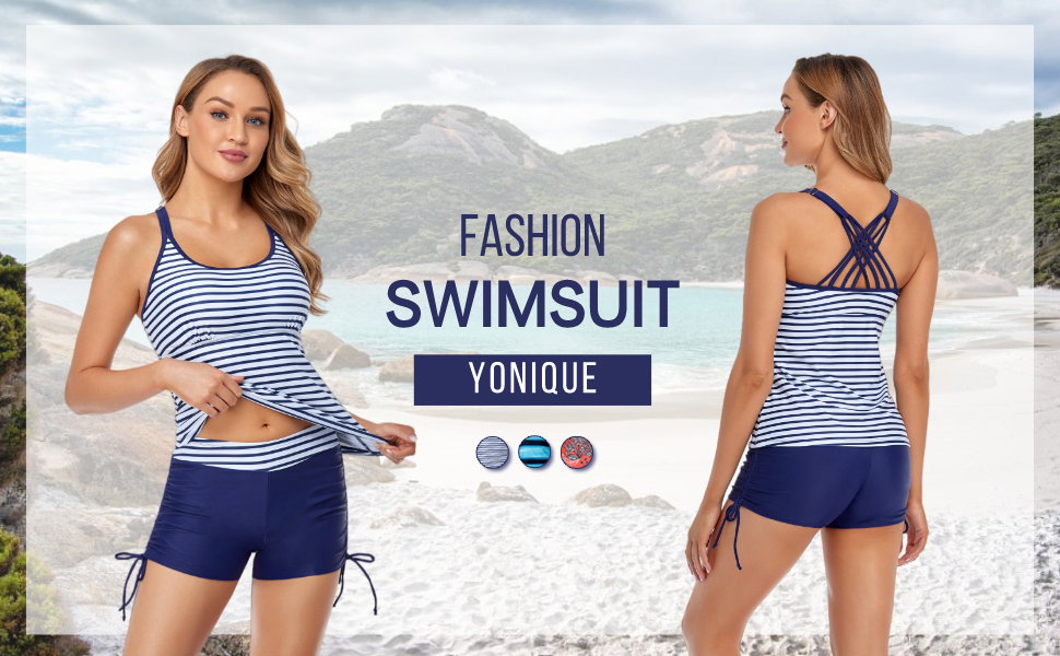 2 piece tankini swimsuits tankini tops with shorts tummy control bathing tie side criss cross back