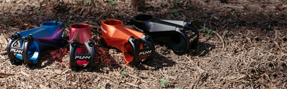 Funn Stryge MTB stem 318mm clamp all mountain bmx dh 6061 Alloy drop -5degree blue red orange black