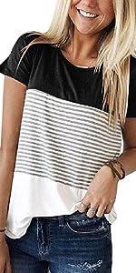 T-shirt donna camicetta bluse maglietta donna camicia tee top manica corta estive maniche corte