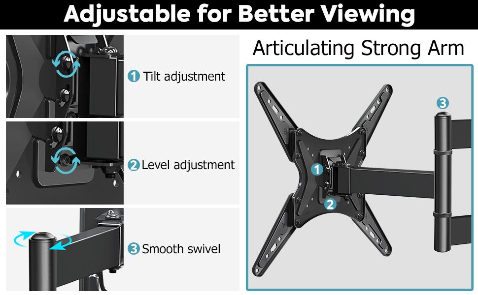 full motion tv wall mount tv mount swivel tv stand mount articulating tv mount