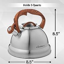 3 quarts large capacity kettle