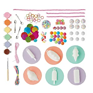 Contents of Frosty Treats Jewelry Kit