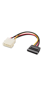 4-pins Molex naar SATA-voedingskabel
