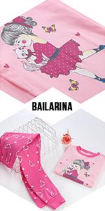 Pijama invierno niña 1 a 7 años bailarina pijama ropa niña 7 años gato pijamas niña pijamas invierno