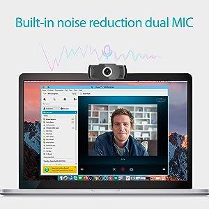 Micrófonos duales con reducción de ruido incorporados  Camara web 1080P HD con micrófono, cámara web de computadora USB para computadora portátil, reducción de ruido, visión de ángulo amplio de 105 ° para streaming, confrencia de zoom, juegos, YouTube Skype FaceTime. (Negro) 06199515 bf26 4d25 b7d9 b1192ec9648e