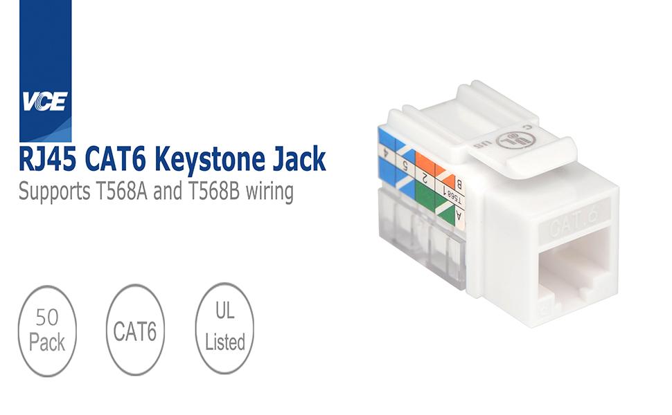 Cat6 RJ45 Keystone Jack