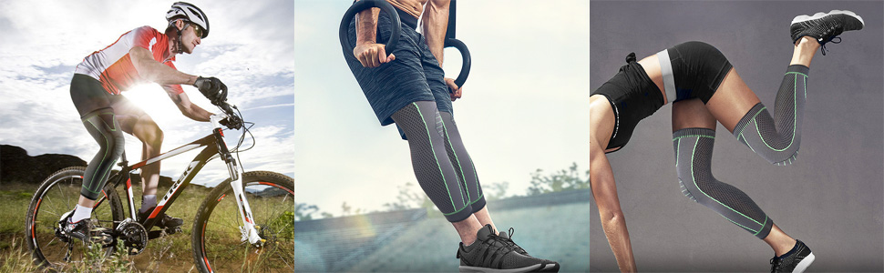 knee and leg compression sleeves