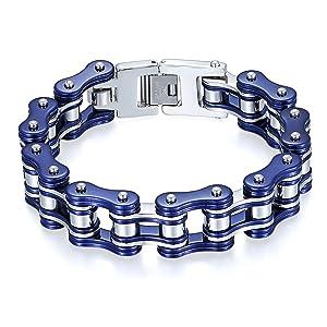 Blau/Silber Fahrradkette