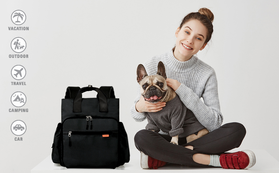 pet travel bag for vacation outdoor camping car weekend trip daily bag airplane