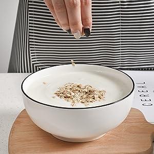 TGLBT 3 Packs Salad Bowls 55 Ounce Porcelain