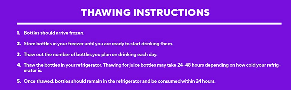 thawing instructions
