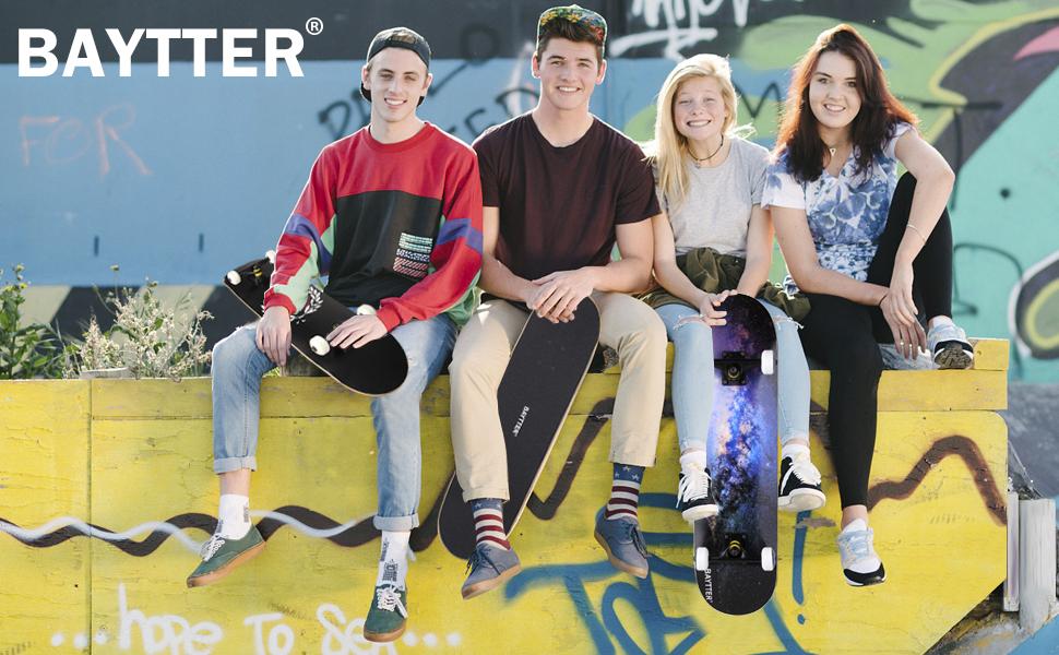 Baytter Skateboard Komplett Board Funboard 79x20cm