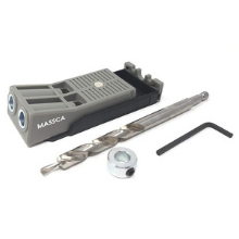 Massca Aluminum Pocket Hole Jig System Set -M1 Bundle Stop Collar /& Face Clamp Square Driver Adjustable /& Easy to Use Joinery Woodworking Tool w//Drill Bit Hex Key Screws