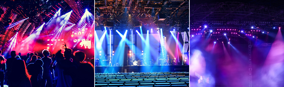 Luci Discoteca LED Par Disco luce RGB 36 LED 72W Illuminazione per palcoscenico per palcoscenico Party DJ luce proiettore Sound attivato DMX512 e telecomando flash luce ideale per feste e decorazioni/