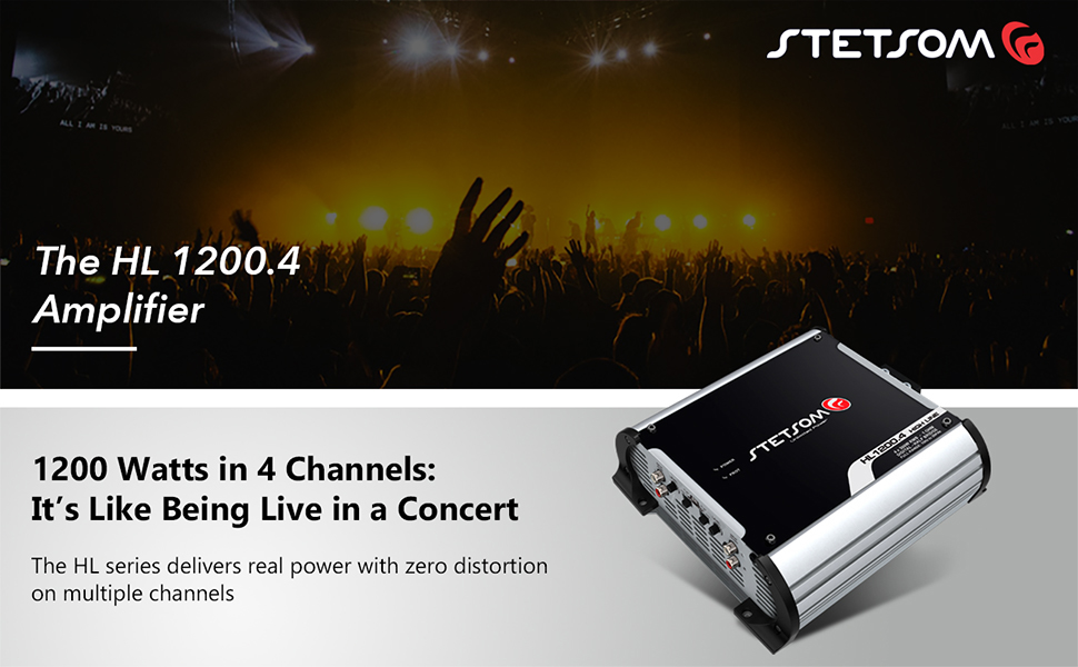 The HL 1200.4 Amplifier 4 Channels Real Power Zero Distortion