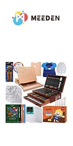 MEEDEN 216-Piece  Wooden Box Set