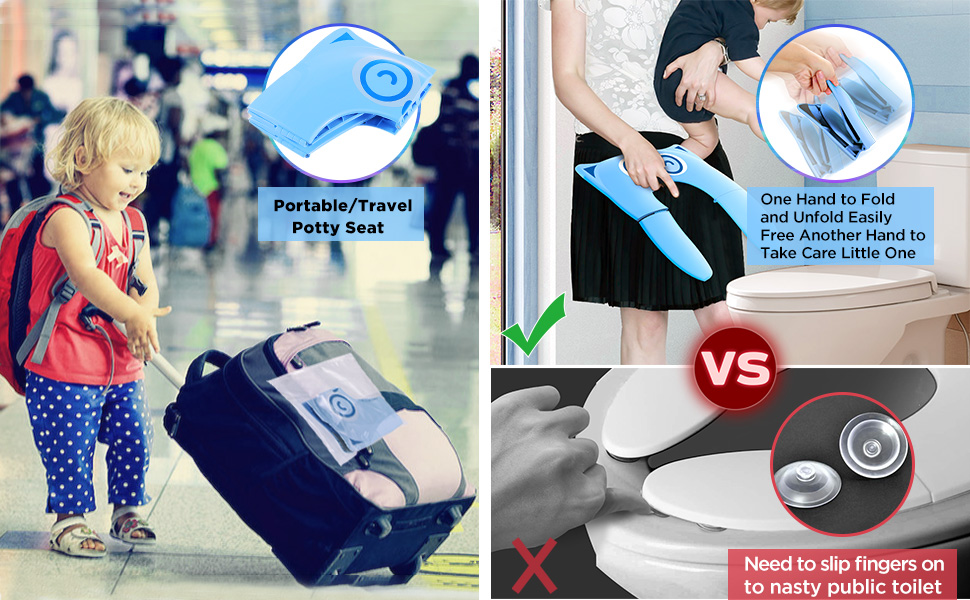 Gimars travel folding potty seat